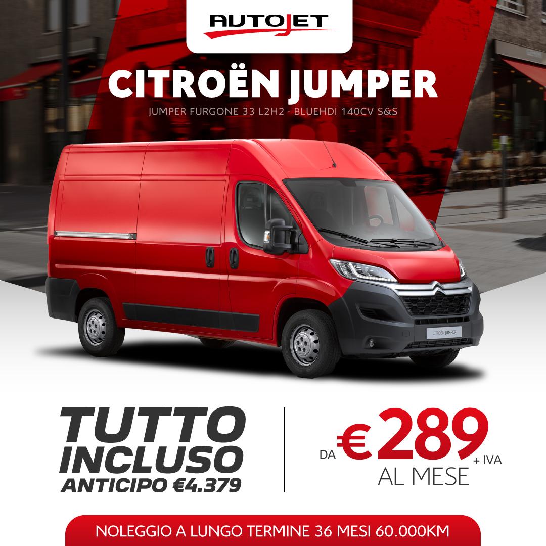 Citroen Jumper L1H1 Noleggio Lungo Termine da Autojet a Torino