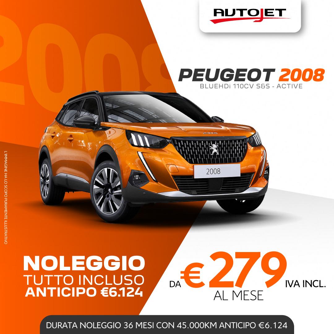 Noleggio Lungo Termine Peugeot 2008 da Autojet