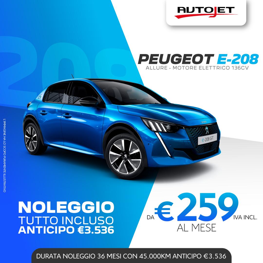 Peugeot 208 Elettrica da Autojet